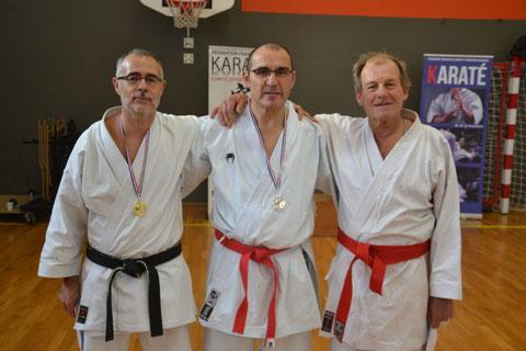 Hervé Bussière, Philippe Boudet et Didier Hébert (notre partenaire d'entrainement du SMK)