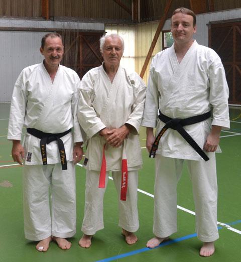 Patrice Pingue, Jean-Luc Schroll et Joël Billaudot