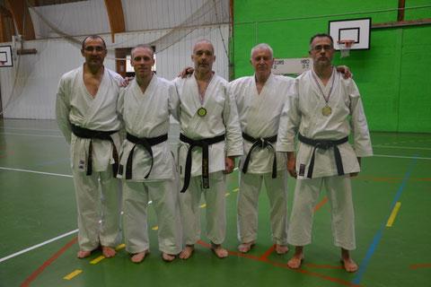 Philippe Boudet, Cyril Levigneron, Philippe Fiault, Jean-Luc Schroll et Hervé Bussière