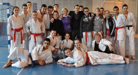 L'équipe de Normandie benjamins à Juniors