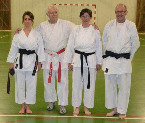 Les deux nouvelles ceintures noires avec Jean-Luc Schroll et Claude Lemonnier