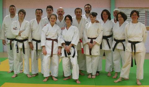 K.Benazzi avec les participants du club