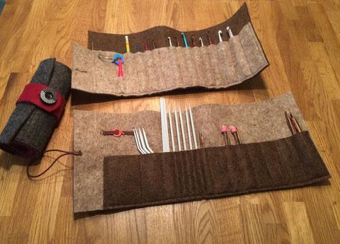 Mäppchen für Häkelnadeln / Utensil for crochet hooks