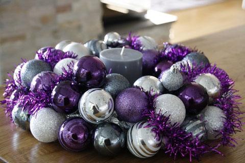 Moderner Adventskranz / modern christmas wreath