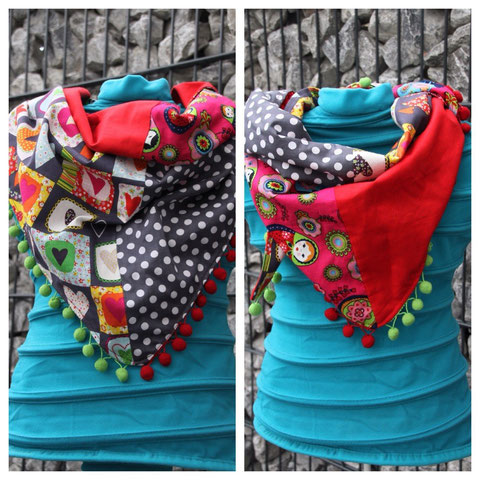 Wende Schal / Scarf with 2 different sides