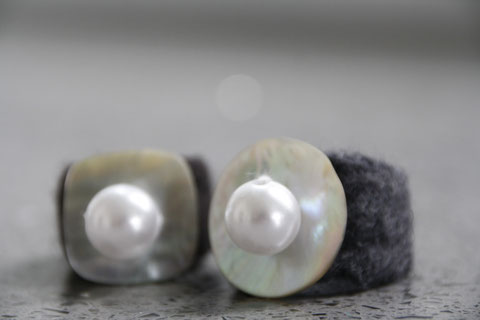 Filzringe mit Perle / felt-rings with bead