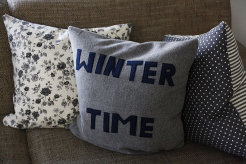Winterliches Sofakissen / winter cushion