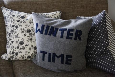 Winterliches Sofakissen / winter cushion