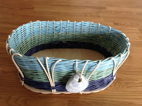Sommerlicher Weidenkorb / weaving basket in Summer style
