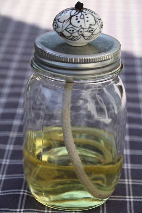 Öllampe / garden oil lamp