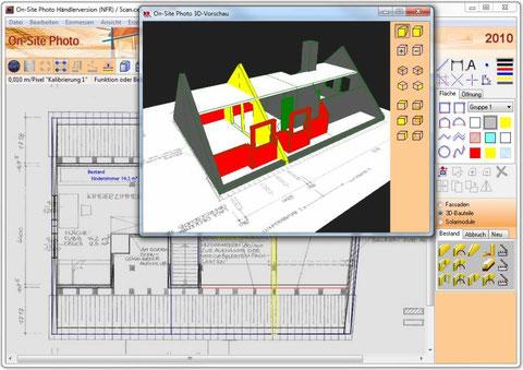 3D-Bauteile auf Plänen zeichnen und Rohbaumassen einfach und schnell ermitteln