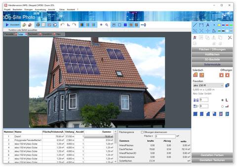 Dachfläche mit Solarmodulen