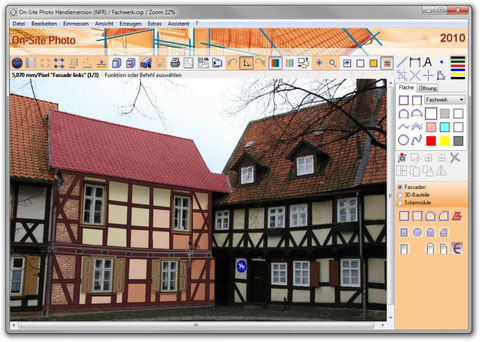 On-Site Photo mit Design-Oberfläche
