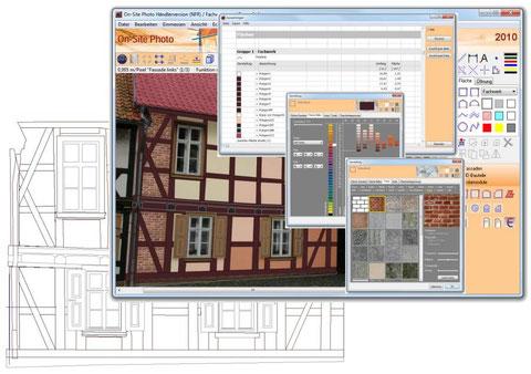 Mengen, Farben, Texturen und die CAD-Ansicht sind Bestandteile eines Photo-Projektes