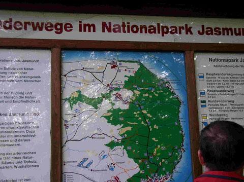 Der Königstuhl im Nationalpark Jasmund (klicken)