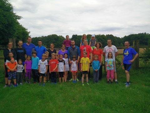Die Teilnehmer am ersten Lauftraining am 07.07.2016
