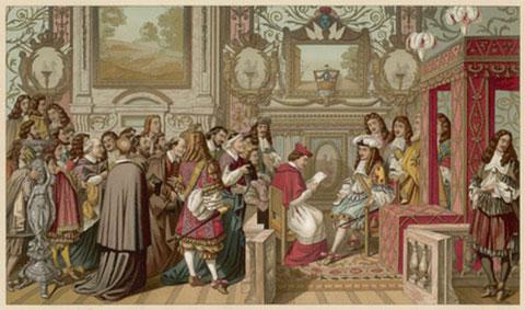 Louis XIV recevant en 1664