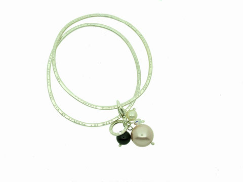 Emma Hedley Lyric Bangle with charm