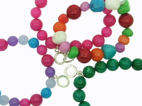 Emma Hedley Bright beaded bracelets