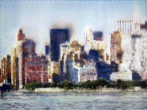 New York City. 100X75 cm. Watercolor.