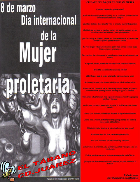 DIA INTERNACIONAL DE LA MUJER PROLETARIA
