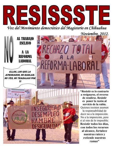 REVISTA RESISSSTE NOVIEMBRE 2012