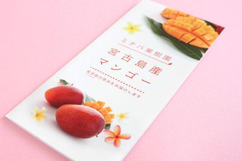 宮古島では珍しく若いマンゴー農家さんなので上品で清潔感あるデザインに仕上がりました。