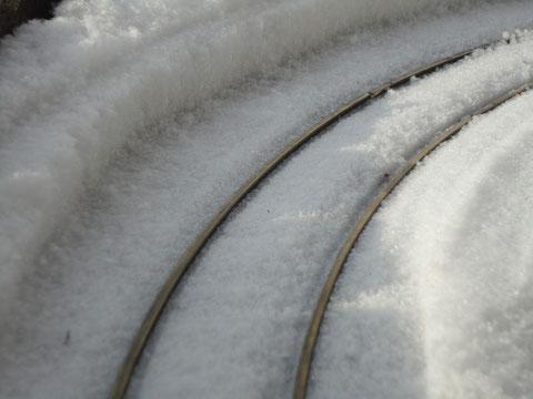 Strecke nach der Schneeräumung
