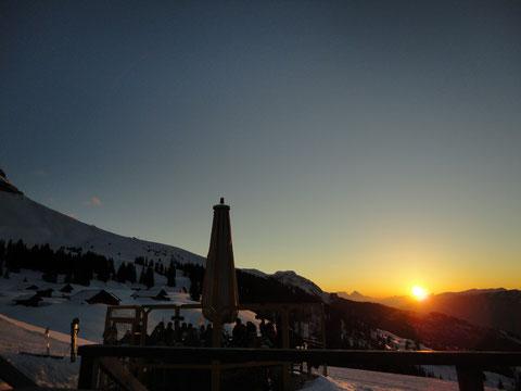 Sonnenuntergang beim Hilten