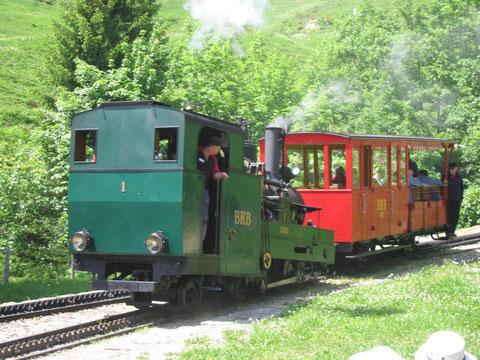 Lok 1 II während einem Dampfworkshop mit dem B21