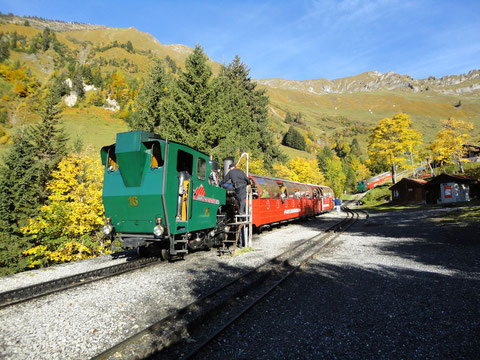 Lok 16 in der Mittelstation Planalp