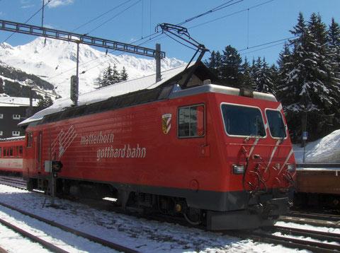HGe 4/4 III der MGB in Andermatt