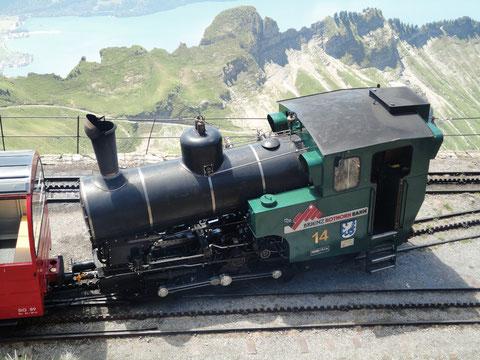 Lok 14 auf dem Brienzer Rothorn