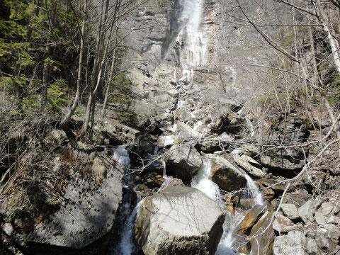 Bachbett unterhalb Wasserfall