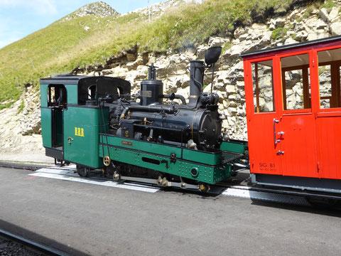 Lok 2 auf dem Brienzer Rothorn