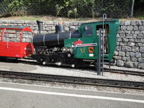 Lok 12 mit den Panoramawagen B7/B8