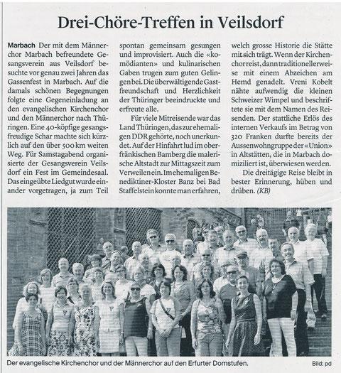 """Bericht im """"Rheintaler"""" von Katja Bellino"""