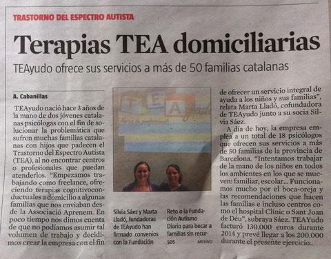 "Suplement ""Dinero"" de LAVANGUARDIA del 10 de Maigde 2015. Periodista: Anna Cabanillas."