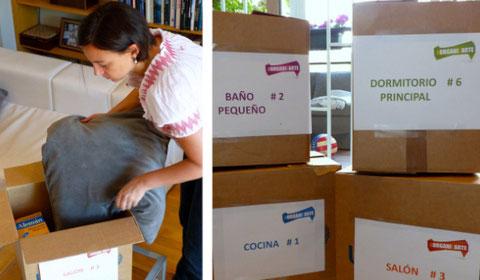 Pasos de una mudanza organizada: empaquetado, etiquetado...