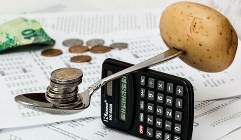 Metáfora de equilibrio en el ahorro