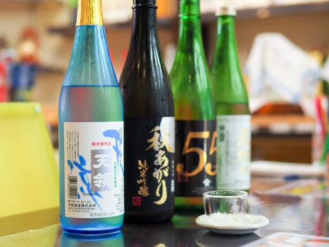 おすすめ地酒4種の試飲サービス