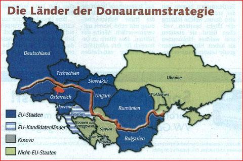 Die Donau Anrainerstaaten 2011