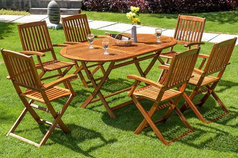 tavolo +sedie +giardino +legno +arredo