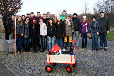 Boßeln auf dem Riedberg, Januar 2013