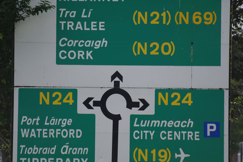 アイルランドのラウンドアバウト