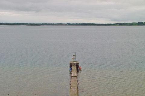アイルランド 湖 飛び込み台 Lough Owel