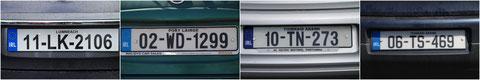 アイルランド 旅行 自動車 ナンバープレート