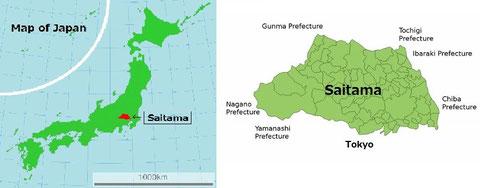 Location of Saitama