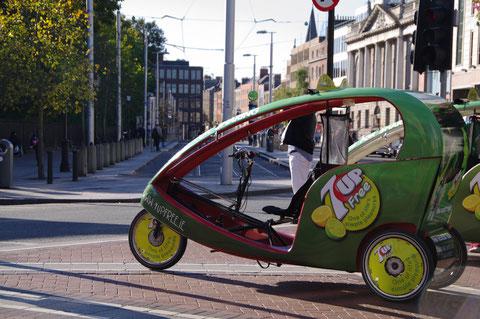 ダブリンの自転車タクシー