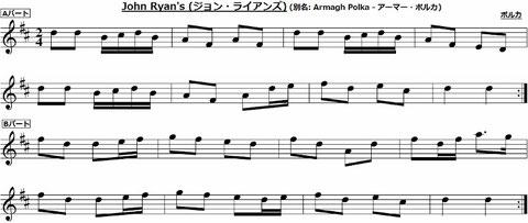ジョン・ライアンズ 楽譜